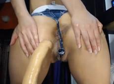 Puta Mexicana jugando con su consolador