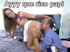 Come mi coño papi, lo haces muy rico