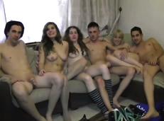 Orgía de porno Español con parejas de universitarios