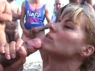 Big boobs mature swallowing balls