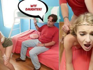 Bailando Twerking frente al papá ¡La castigaron como a una puta!