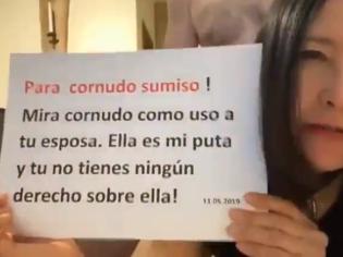 Puta infiel manda un mensaje a su esposo cornudo