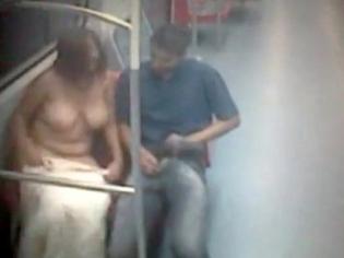 Pillados follando en el metro público de Brasil