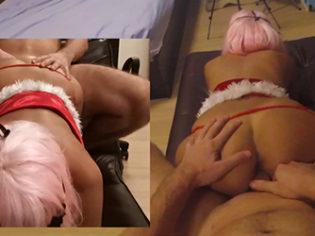 Pareja amateur filmando porno