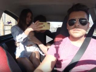 Follando con una hermosa venezolana en el Uber