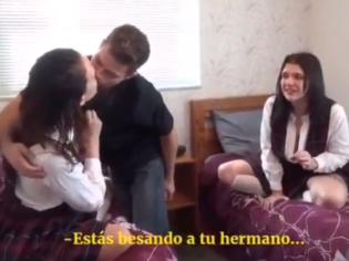 Chavalote se folla a sus hermanas pequeñas (sub español)